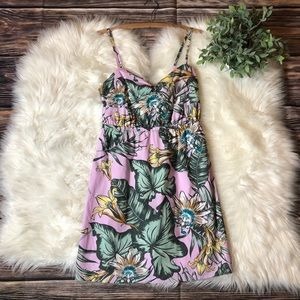 J. Crew Palm Leaf Floral Fit and Flair Dress